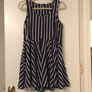 Sparkle and Fade navy/white dress